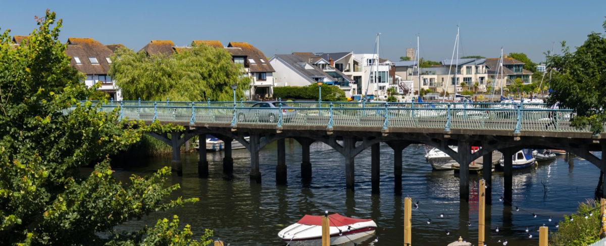 Bridge Over The River Avon At Tuckton Near Christchurch Dorset