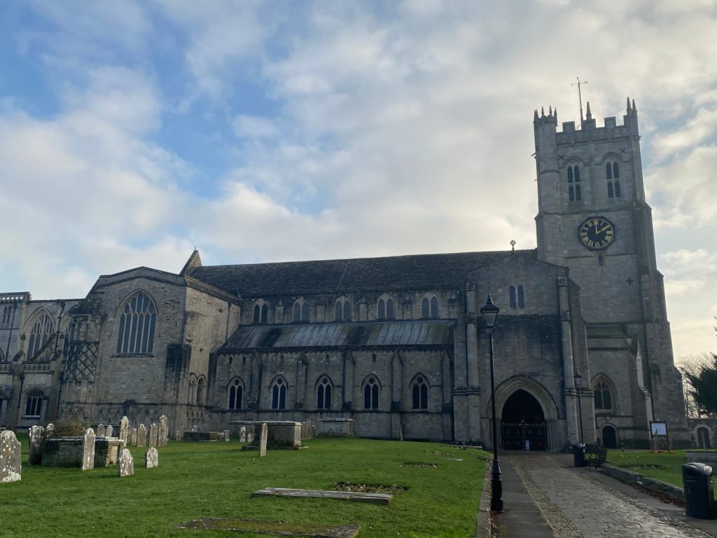 Christchurch Priory and graveyard