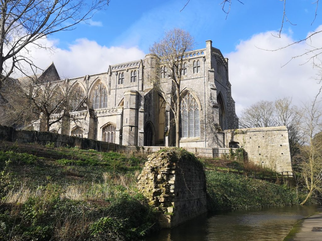 Christchurch Priory From The Riverbank