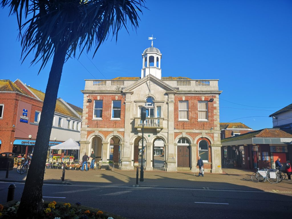 Christchurch Town Hall front view